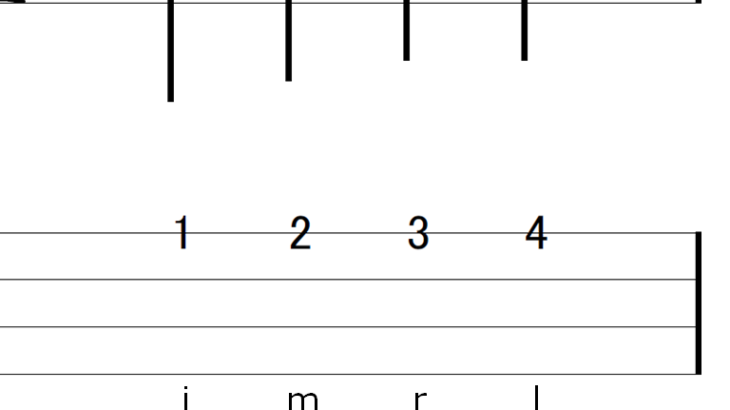 タブ譜への運指書き込み「i m r l」のススメ
